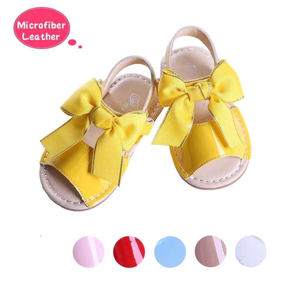 Yellow Cute Girls Sandals Shoes With