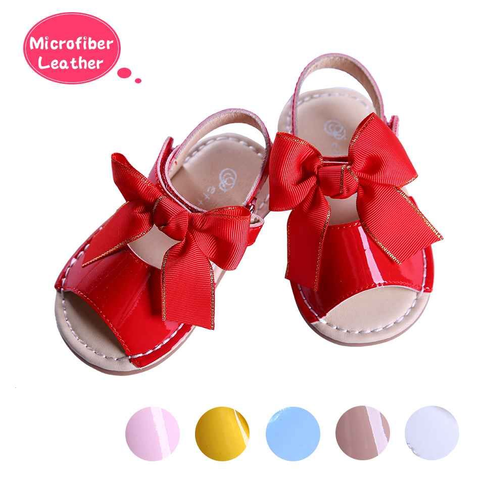 55853663372da Red Baby Girl Bowknot Shoes