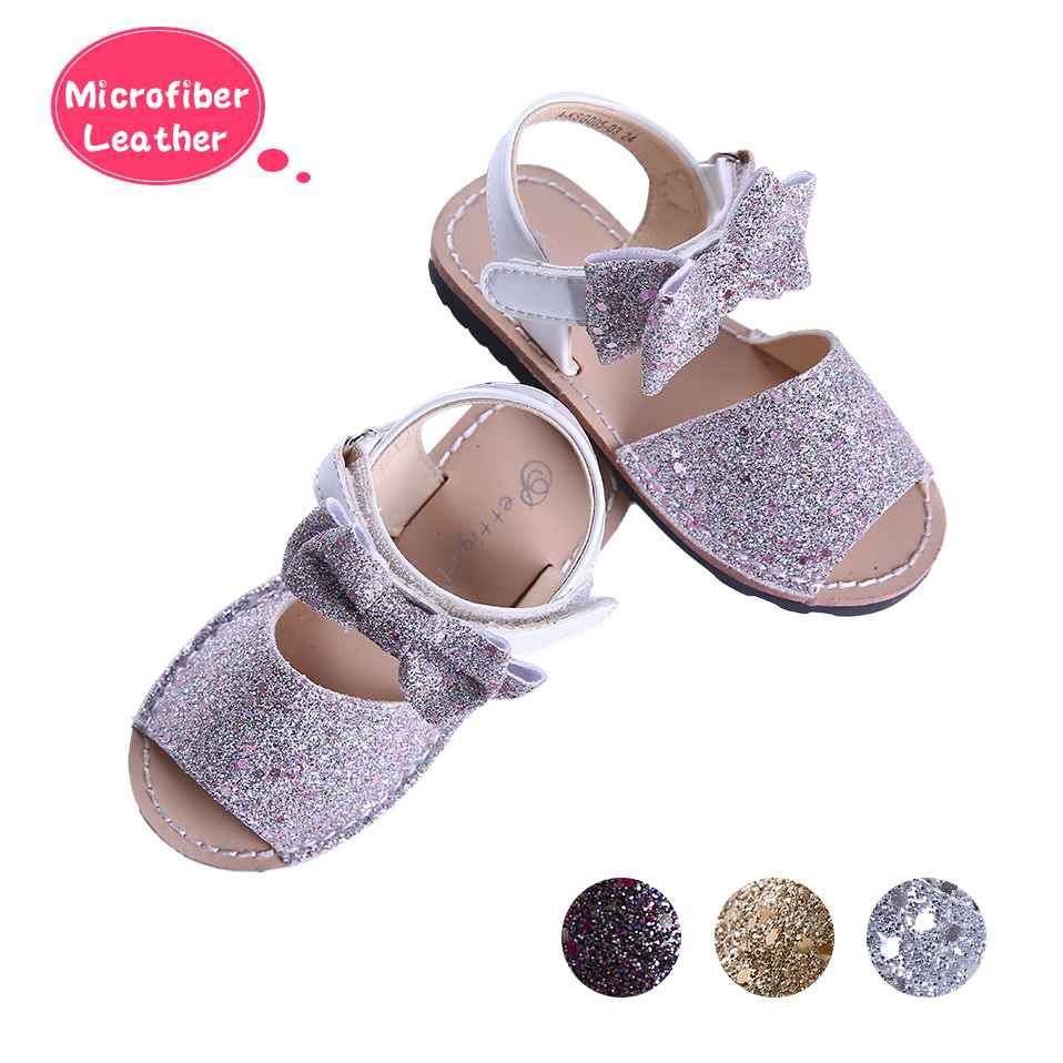 Pink Glitter Sequin Girls Party Shoes