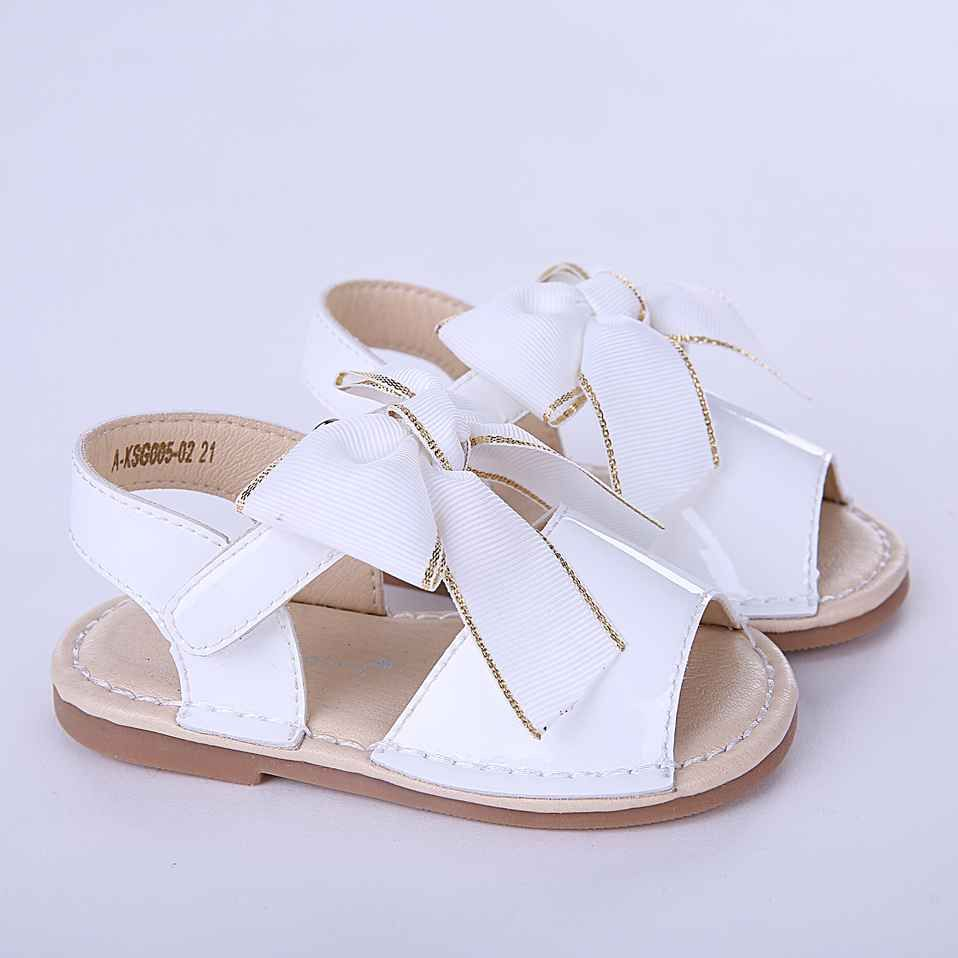 White Cute Girls Sandals Shoes With