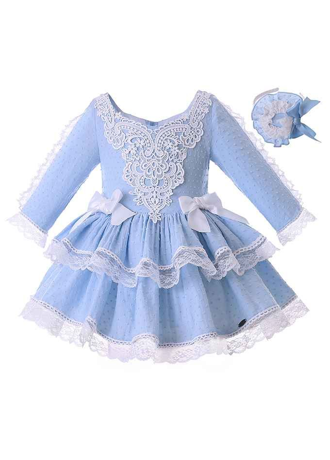85ee2230d745 Blue Autumn Girl Party Dress