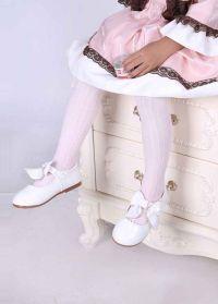 White 100% Soft Cotton Girls Tights