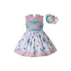 2020 Spring & Summer Printed Lolita Princess Boutique Dress + Hand Headband