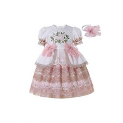 (PRE-ORDER)2021 New Luxury Dress Excellent Lace Bowknot Embroidered Puff Sleeve