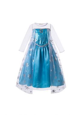 Elsa Sequin Halloween Cosplay Party Dress