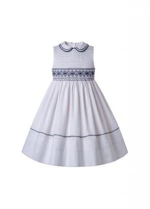 2020 Spring & Summer Boutique White Ruffled Smoked Dress
