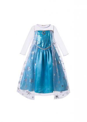 Elsa Sequin Halloween Cosplay Party Dress