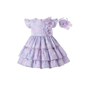 Elegant Princess Light Purple Sleeveless Girls Dresses with Flowers