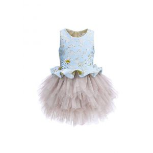 Kids Blue Tops Stylish Princess Tutu Dress