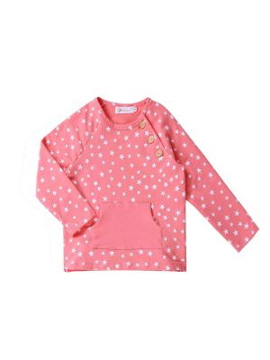Pink Stars Girls Tops