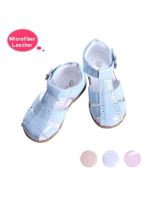 Blue Fashion Microfiber Leather Boys Sandals Shoes