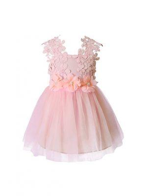 Lace Floral Princess Girls Party Dress