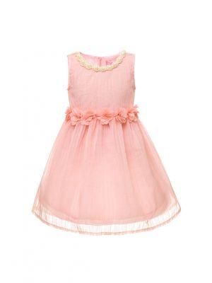 Summer Beading+Appliques Flower Girl Dress