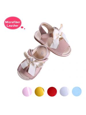 Camel Cute Girls Sandals Shoes With Handmade Bow-knot