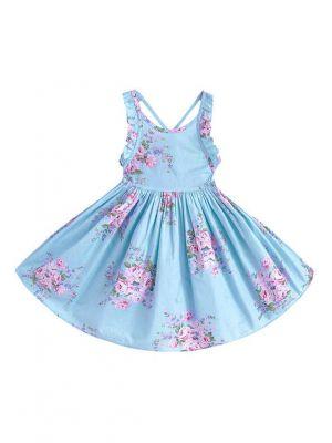 Girl Beach Floral Dresses Baby Girls Dress