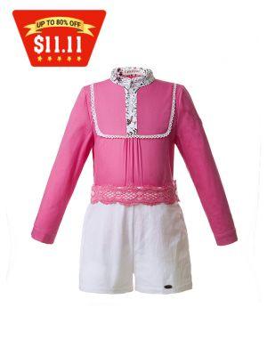 Long Sleeve Hot Pink Boy Clothing Set