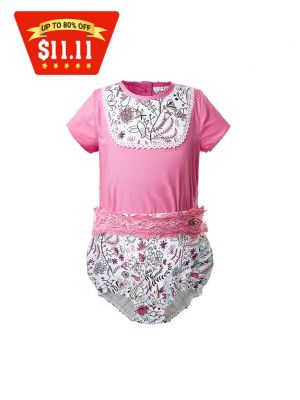 Baby Toddler Flower Printed Boy Outfit