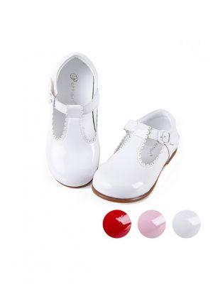 White Microfiber Leather Handmade Shoes