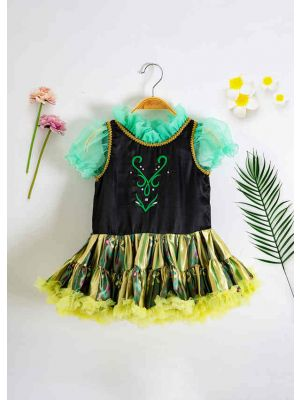 Floral Elsa Anna Tutu Cosplay Dress