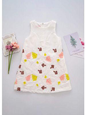 Summer Girls Casual Jacquard Casual Dress