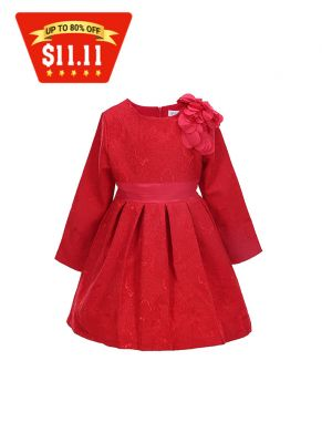 Baby Girls Party Red Christmas Dress
