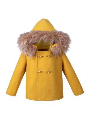Baby Boy Hooded Yellow Coat
