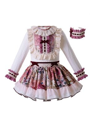 Flower Girls Clothing Sets With Handband