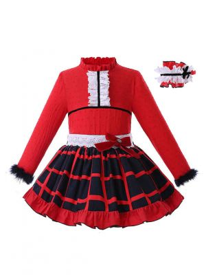 (Pre-sale products) Red Plaid Girl Clothing Sets