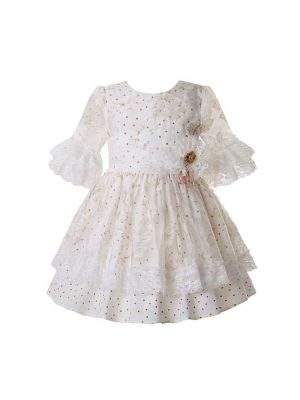 (Only 10Y)Lace Wedding Dress With Dot