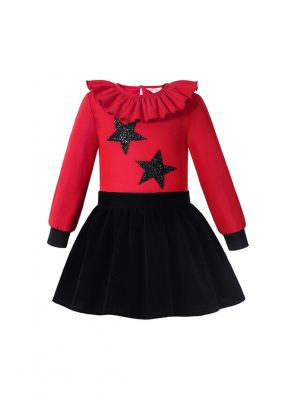 Winter Boutique Sweet Girls Red Shirt +  Princess Skirt
