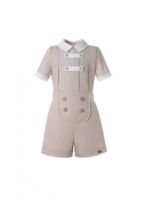 Baby Boys England Style Khaki Clothes Set