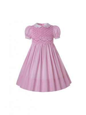 Pink Doll Collar Pleated Dress