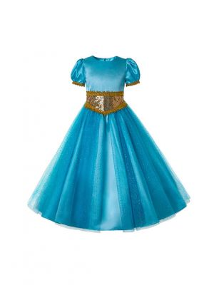 Summer Jasmine Princess Dress up Costume Cosplay Halloween Party Summer Fantasy Kids Clothes for Girls