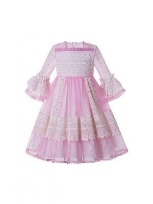 Girls Emboridery Yarn Dyed & Paisley Patten Vintage Girls Dress