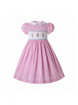 Pink Girl's Smocked Dress Ice Cream Patterns