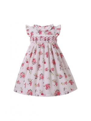 Classical Baby Girls Floral Dress