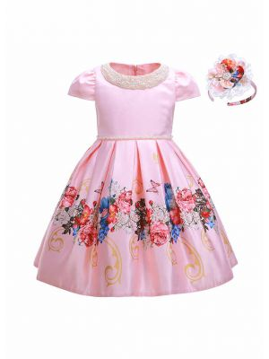 Flower Girl Dress With Beading