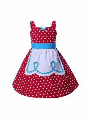 Red Polka Dot Halloween Cosplay Princess Dress