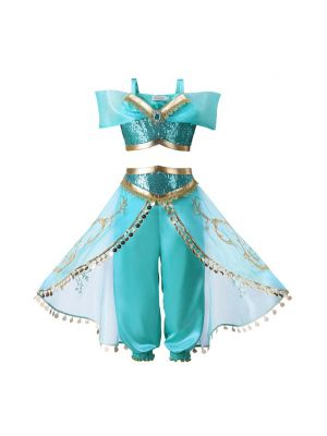 Summer Princess Clothes Kid Jasmine Cosplay