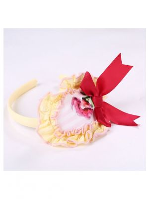 Yellow Headband with Red Bow