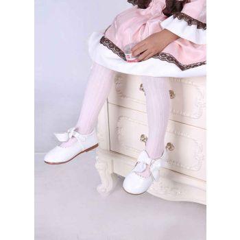 White 100% Soft Cotton Girls Pantyhose