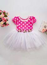Summer Flower Pink Dots Girl Dress