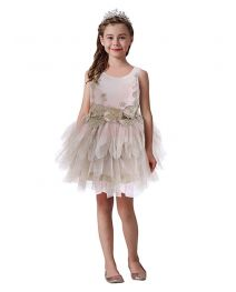 Girls Fashion Classic Sleeveless Flower Children Tutu Dress