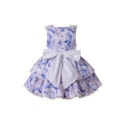 2020 Flowers Boutique Girls Ruffles England Style Layered Dress + Hand Headband
