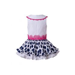 Polka Dot White&Black Ruffled With Cute Bow Boutique Dress + Hand Headband