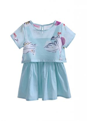 New Summer 2pcs Cartoon Print Clothing Sets