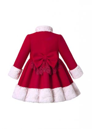 (Pre-order products) Autumn & Winter Girl Red Single-Breasted Coat