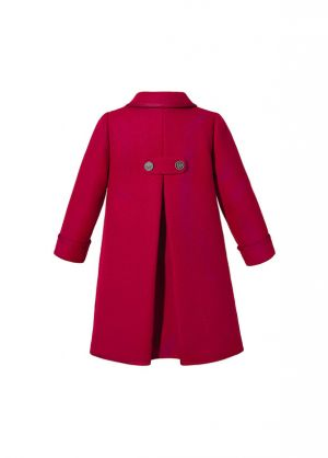 (Pre-order products) Girl Vintage Christmas  Red Double-Breasted  Coat