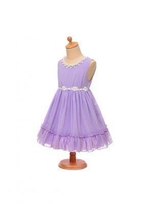 Summer Girl Chiffon Purple Lavender Princess Dress