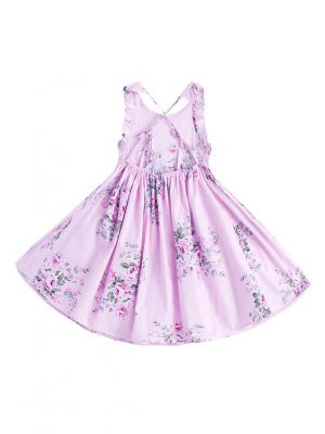 Baby Girl Summer Pink Flower Dresses